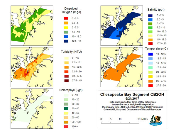 Eyes on the Bay Your Home for Maryland Tidal Water Quality Data